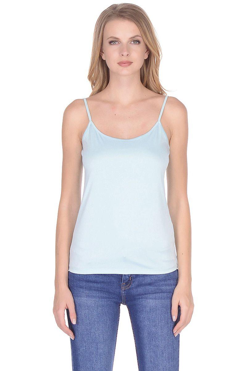 Топ женский Baon, цвет: бирюзовый. B268202_Cascade. Размер 3XL (54) женский гардероб