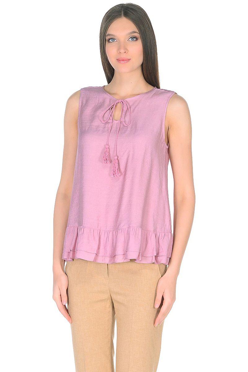Топ женский Baon, цвет: розовый. B268020_Oregano. Размер XL (50) кардиган женский baon цвет черный b147505 black размер xl 50