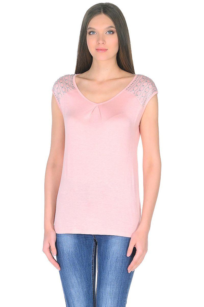 Топ женский Baon, цвет: розовый. B268033_Snakeweed. Размер XL (50) кардиган женский baon цвет черный b147505 black размер xl 50