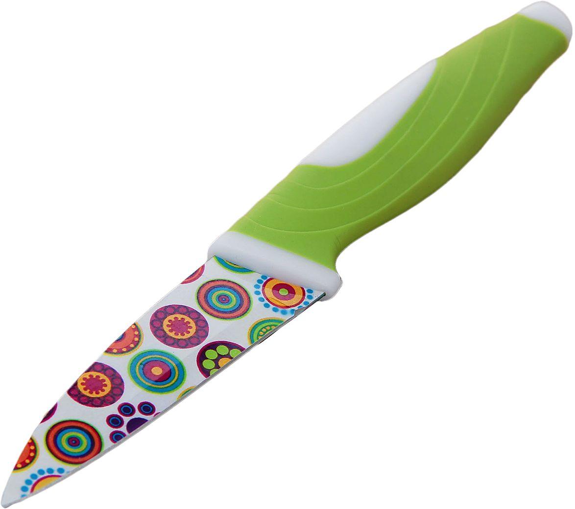 Нож Доляна Калейдоскоп, с антиналипающим покрытием, длина лезвия 8,5 см. 23541132354113От качества посуды зависит не только вкус еды, но и здоровье человека. Нож с антиналипающим покрытием - товар, соответствующий российским стандартам качества. Любой хозяйке будет приятно держать его в руках. С нашей посудой и кухонной утварью приготовление еды и сервировка стола превратятся в настоящий праздник.