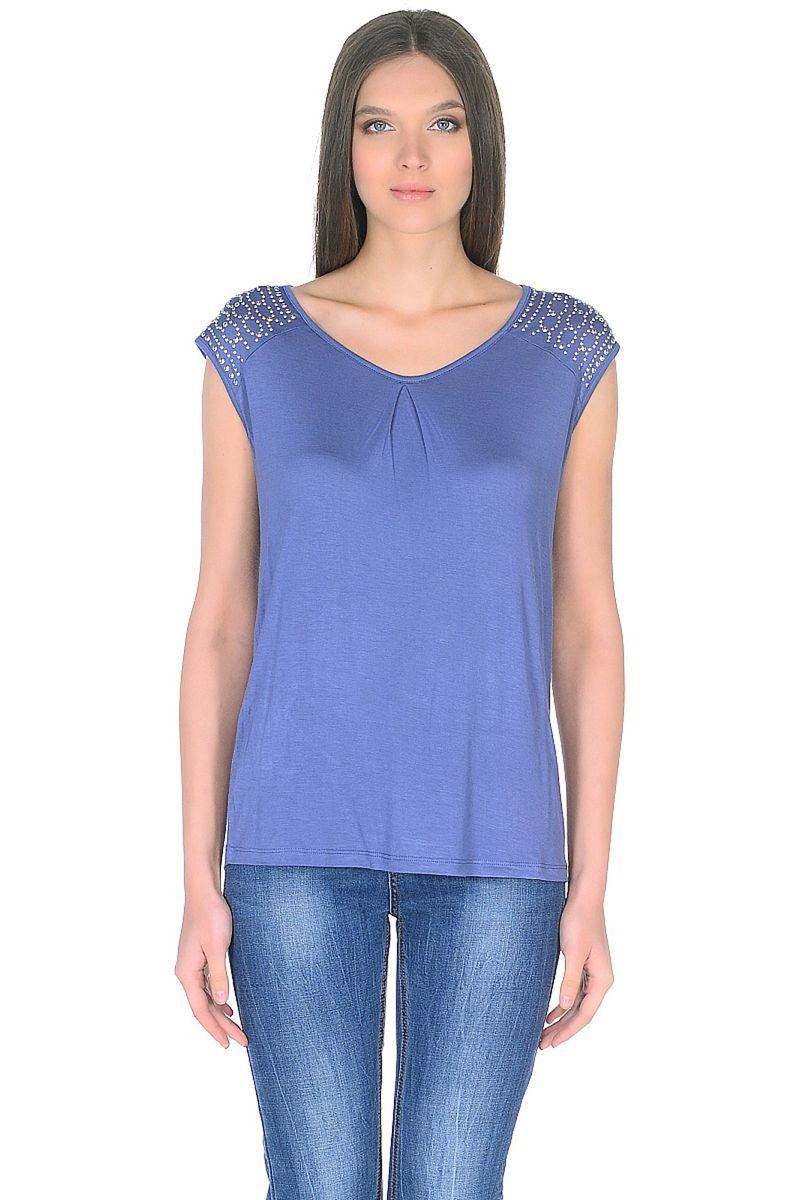 Топ женский Baon, цвет: синий. B268033_Lead. Размер XL (50) пуховик женский baon цвет синий b007569