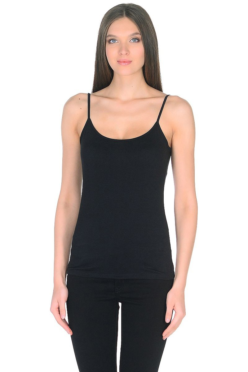 Топ женский Baon, цвет: черный. B268201_Black. Размер 3XL (54) кардиган женский baon цвет черный b147505 black размер xl 50