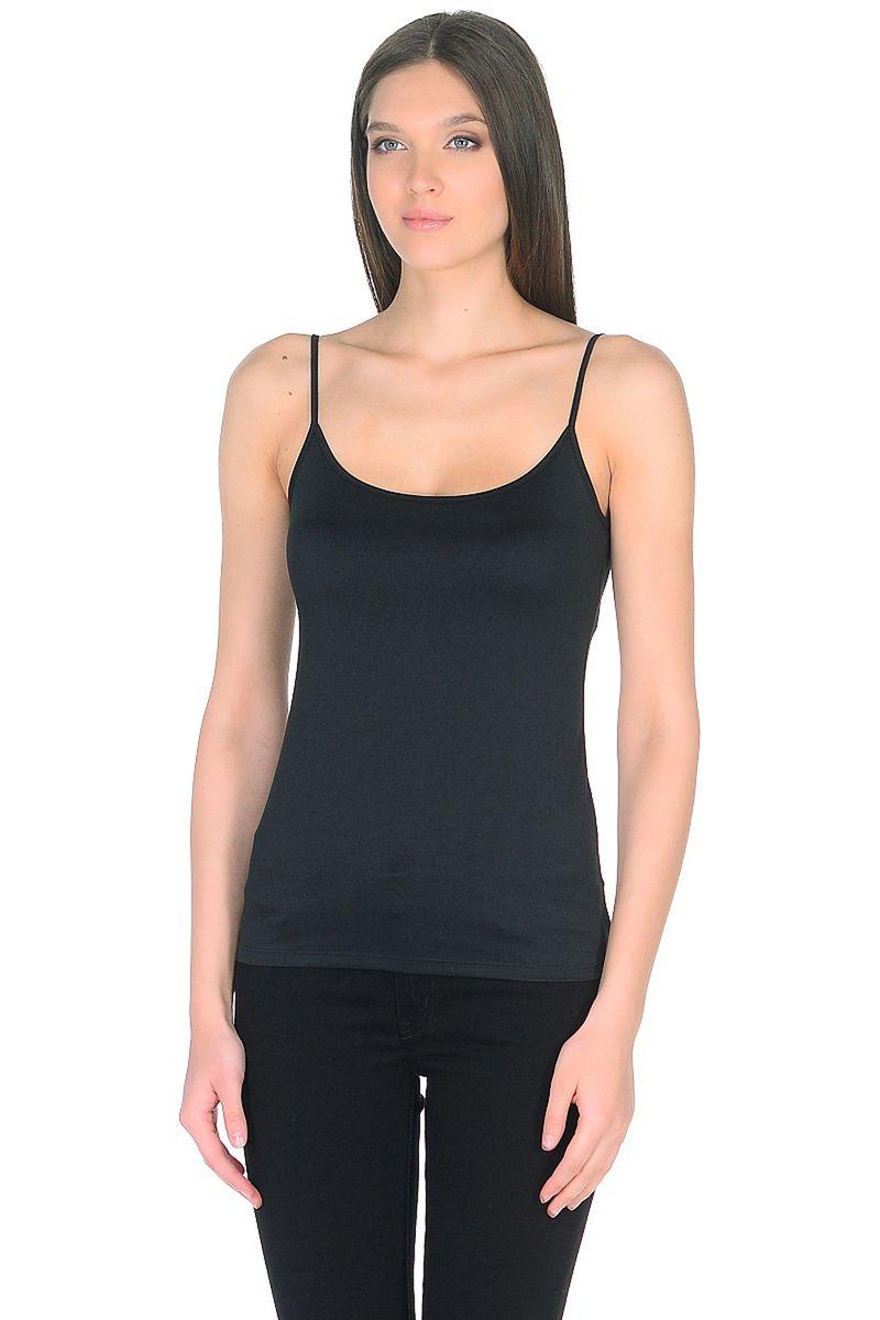 Топ женский Baon, цвет: черный. B268202_Black. Размер XL (50)B268202_Black