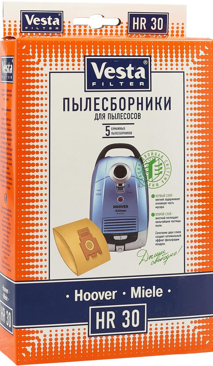 Vesta filter HR 30 комплект пылесборников, 5 шт фильтр для пылесоса rolsen t3060tsf filter t3060tsf filter