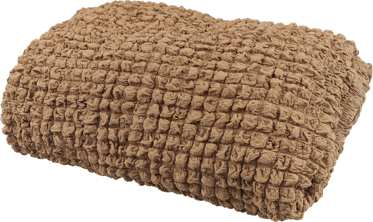 Набор чехлов МарТекс, для трехместного дивана и кресла, цвет: бежевый. 05-0744-305-0744-3Комплект чехлов для мебели из эластичной ткани с эффектом жатка, выполнен из высококачественного полиэстера и хлопка с красивым рельефом. Предназначен для мягкой мебели стандартного размера со спинкой высотой в 140 см. Такие чехлы изысканно дополнят интерьер вашего дома. Изделие прорезинено со всех сторон и оснащено закрывающей оборкой. Набор чехлов для мягкой мебели придаст вашей мебели новый внешний вид. Каждый элемент интерьера нуждается в уходе и защите. В большинстве случаев потертости появляются на диванах и креслах. В набор входит чехол для трехместного дивана и два чехла для кресла. Чехлы изготовлены из 60% полиэстера и 40% хлопка. Такой материал прекрасно переносит нагрузки, долго не стареет и его просто очистить от грязи.Набор чехлов создан для тех, кто не планирует покупать новую мебель каждый год. Чехлы можно постирать в стиральной машине на деликатном режиме стирки. Он идеально подойдет для тех, кто хочет защитить свою мебель от постоянных воздействий. Этот чехол, благодаря прочности ткани, станет идеальным решением для владельцев домашних животных. Кроме того, состав ткани гипоаллергенен, а потому безопасен для малышей или людей пожилого возраста. Такой чехол отлично впишется в любой интерьер. Чехол послужит не только практичной защитой для вашей мебели, но и обновит интерьер без лишних затрат.Диван, размеры:Ширина посадочного места: 140-210 см. Ширина подлокотников: 25-35 см.Глубина посадочного места: 70-80 см.Высота юбки: 35-45 см. Высота спинки: 80-90 см.Кресло, размеры: Ширина посадочного места: 70-80 см. Ширина подлокотников: 25-35см. Глубина посадочного места: 70-80 см. Высота юбки: 35-45 см. Высота спинки: 80-90 см.