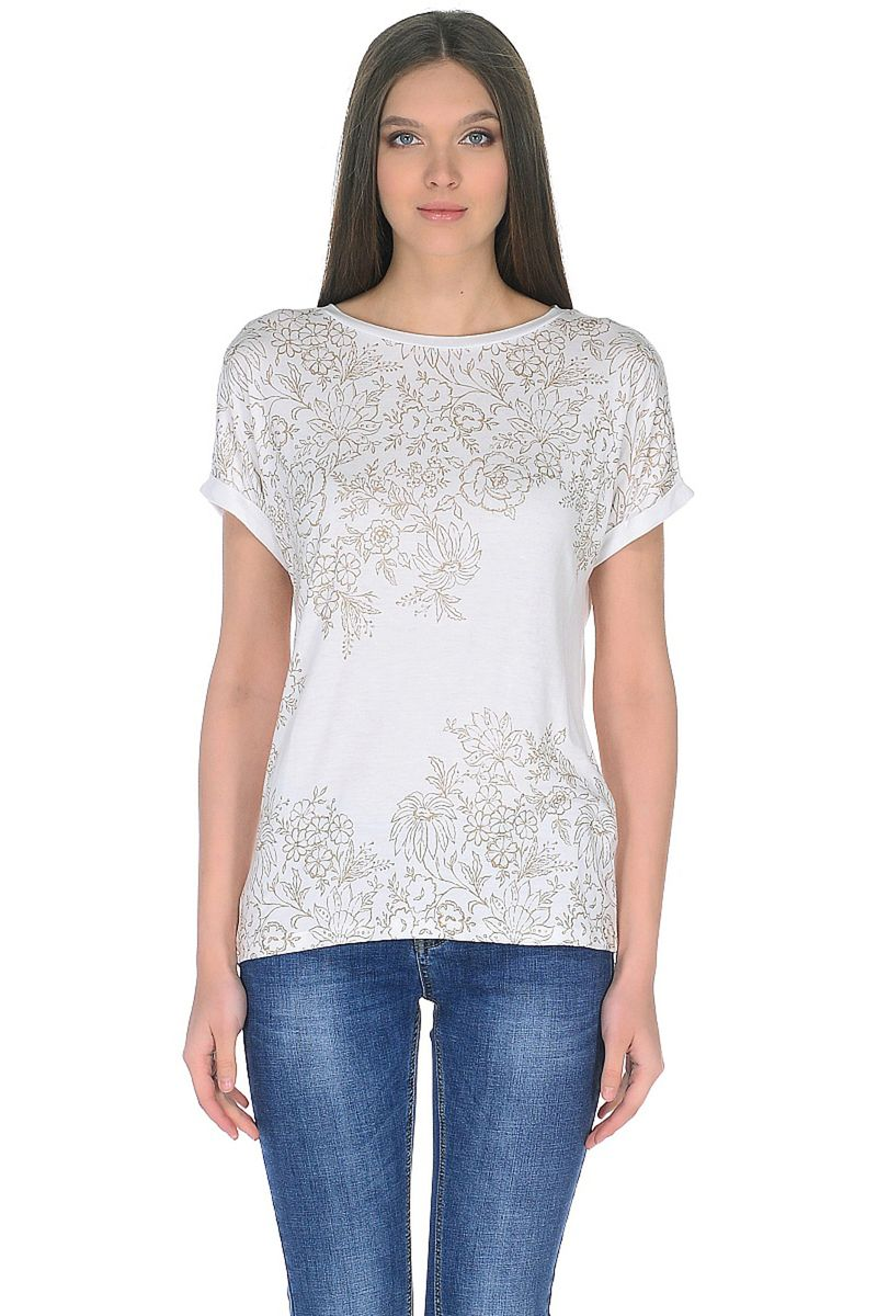 Футболка женская Baon, цвет: белый. B238044_White. Размер 4XL (56) футболка baon baon ba007emayig2