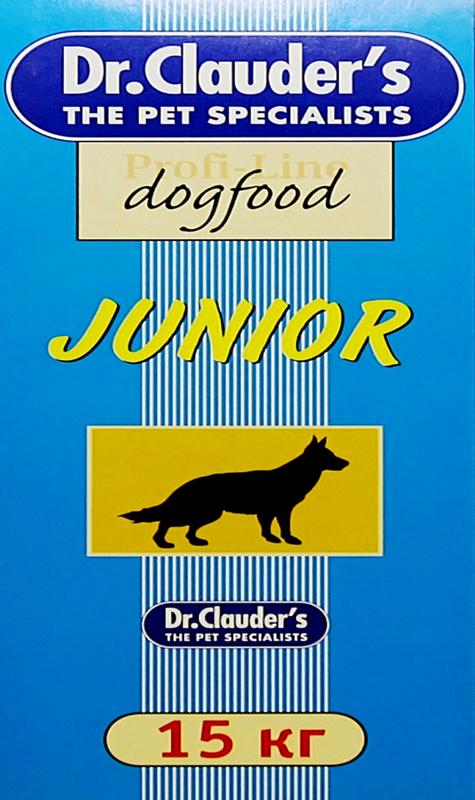 Корм сухой Dr. Clauder's Junior для щенков, 15 кг корм консервированный для кошек dr clauder s herz in delikater sosse