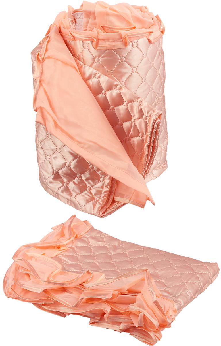 Покрывало МарТекс Джафарино, цвет: розовый 180 х 200 см. 05-0788-305-0788-3Покрывало Атлас розовый Джафарино ЕВРО 180 х 200