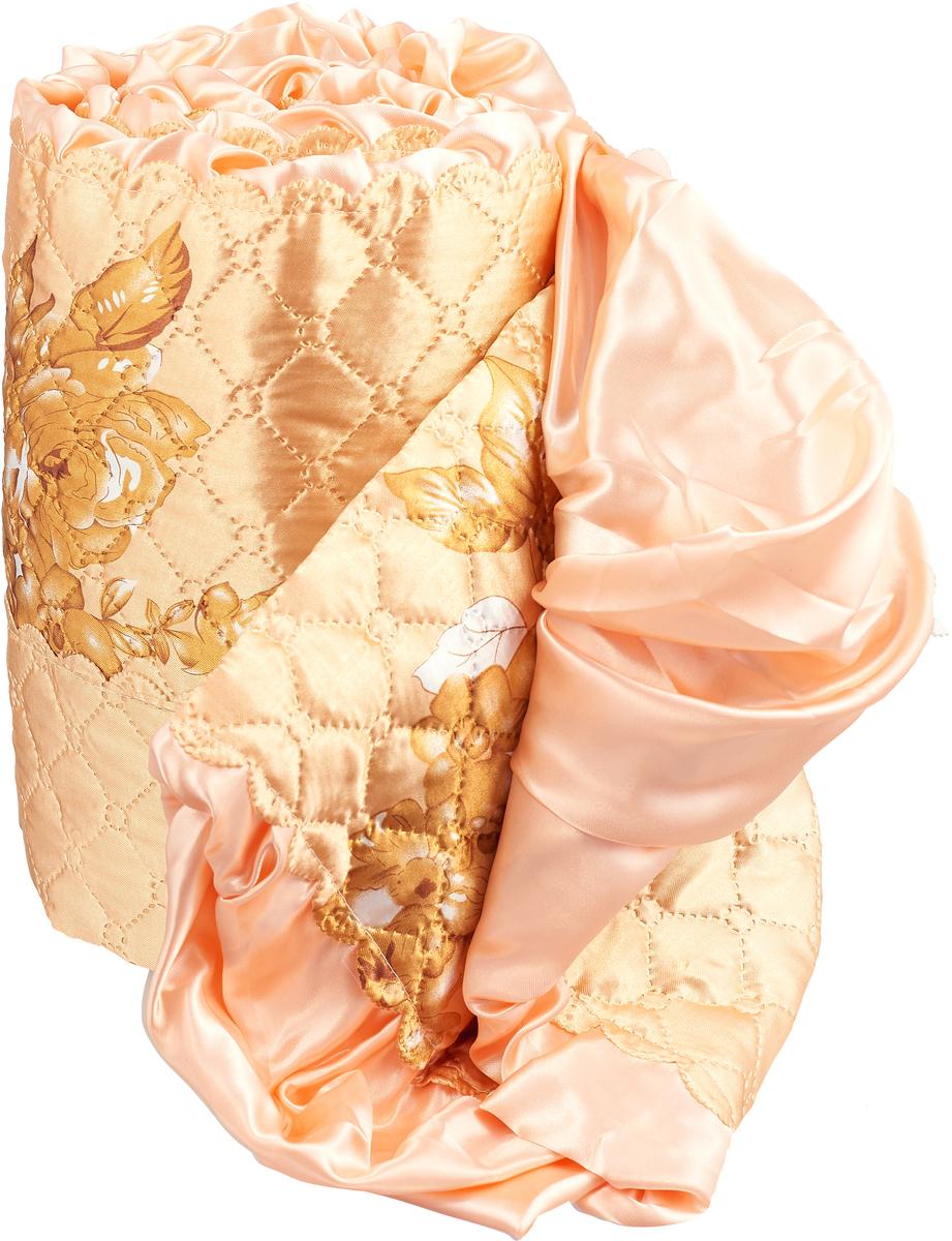 Стеганое покрывало из атласной ткани с декоративной юбкой по 2-м сторонам. Состав 100% полиэстер.