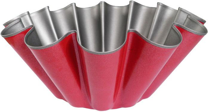 Форма для выпечки Miolla, с антипригарным покрытием, цвет: красный, 8 х 4,5 х 3 см