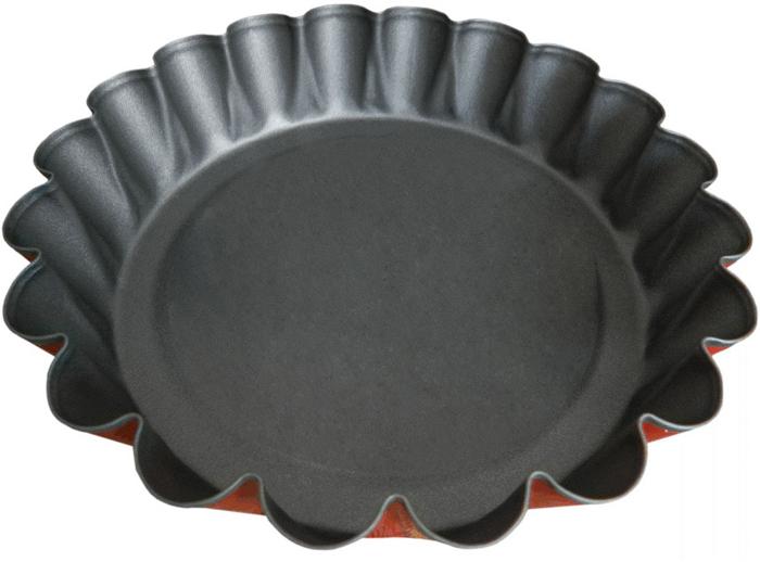 Форма для выпечки Miolla, с антипригарным покрытием, цвет: оранжевый, 15,7 х 13 х 3,4 см