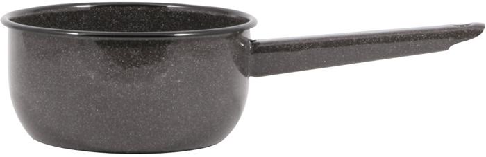 Ковш изготовлен из нержавеющей стали с эмалированным покрытием. Технология обработки внутренней поверхности и все свойства, присущие эмалевым покрытиям, представляют преимущества, которые невозможно воспроизвести, используя другие материалы: - вкусовые свойства продуктов питания не искажаются, так как отсутствуют выделения ионов металлов; - запах пищевых продуктов не задерживается на стенках посуды; - покрытие устойчиво к воздействию щелочей и кислот и не вступает в химические реакции с пищевыми продуктами; - гладкая стекловидная поверхность препятствует размножению бактерий и значительно превосходит нержавеющую сталь, алюминий и другие материалы по санитарным свойствам и простоте ухода. Ковшик имеет утолщенное дно. Благодаря этому пища не пригорает. Эмаль легко моется с помощью гелей. Подходит для готовки на газовых, электрических, стеклокерамических, галогеновых, индукционных плитах. Можно мыть в посудомоечной машине. Объем 1,5 л. Три слоя эмалевого покрытия высокого качества. Удобный и практичный, безопасный в применении, изготовлен из экологически чистых материалов. Дно утолщенное, черное. Толщина стенок 0,8 мм, дна 3 мм.