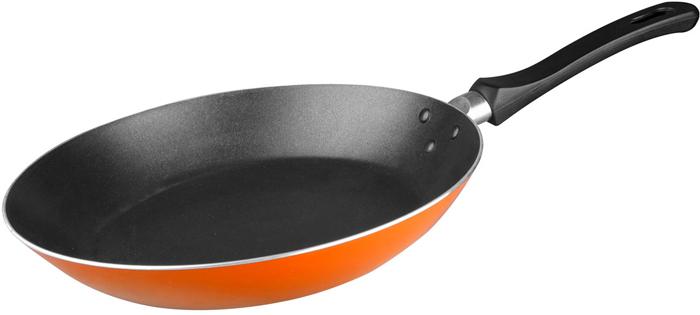 Сковорода оранжевая диаметром 20 см. Подходит для использования в посудомоечной машине. Не использовать в СВЧ печи, духовом шкафу. Упаковка: цветной вкладыш, навесной ярлык, прозрачный пакет. Особенность продукции: расширенные борта.