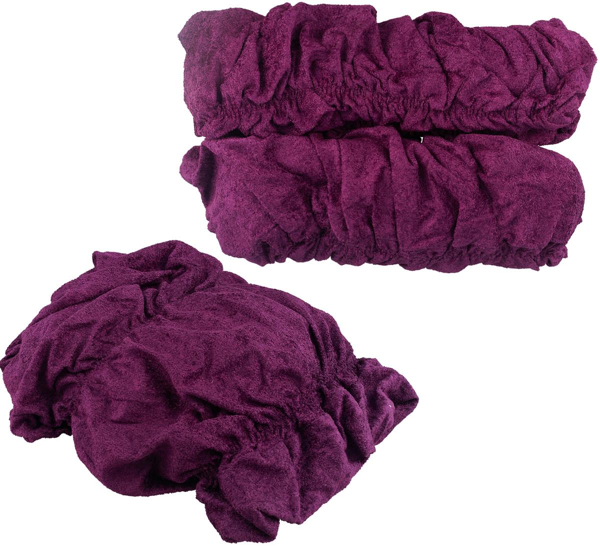 Набор чехлов МарТекс, для трехместного дивана и 2 кресел, цвет: фиолетовый. 05-0462-3 набор чехлов для мягкой мебели 3 предмета every 1799 char009