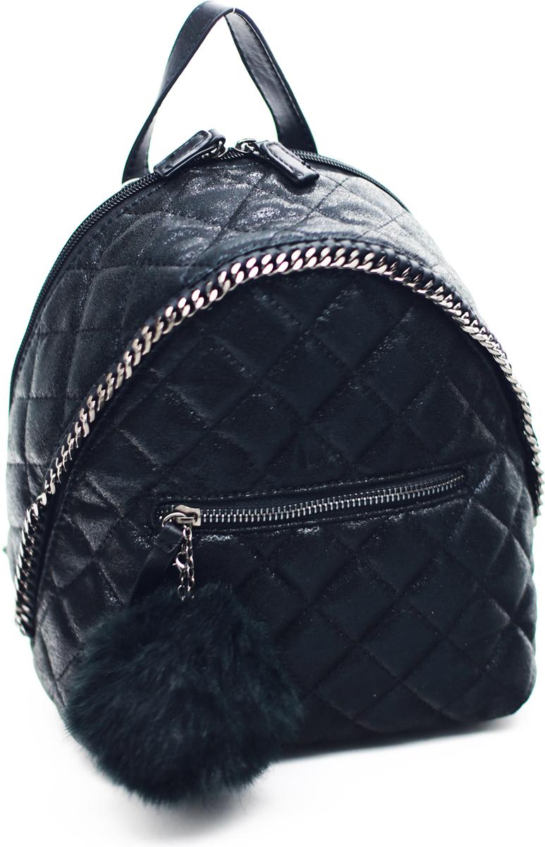 Рюкзак женский David Jones, цвет: черный. 5659-3 BLACK