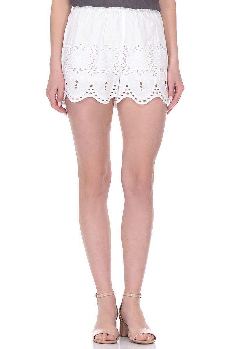 Шорты женские Baon, цвет: белый. B328015_White. Размер S (44)B328015_White