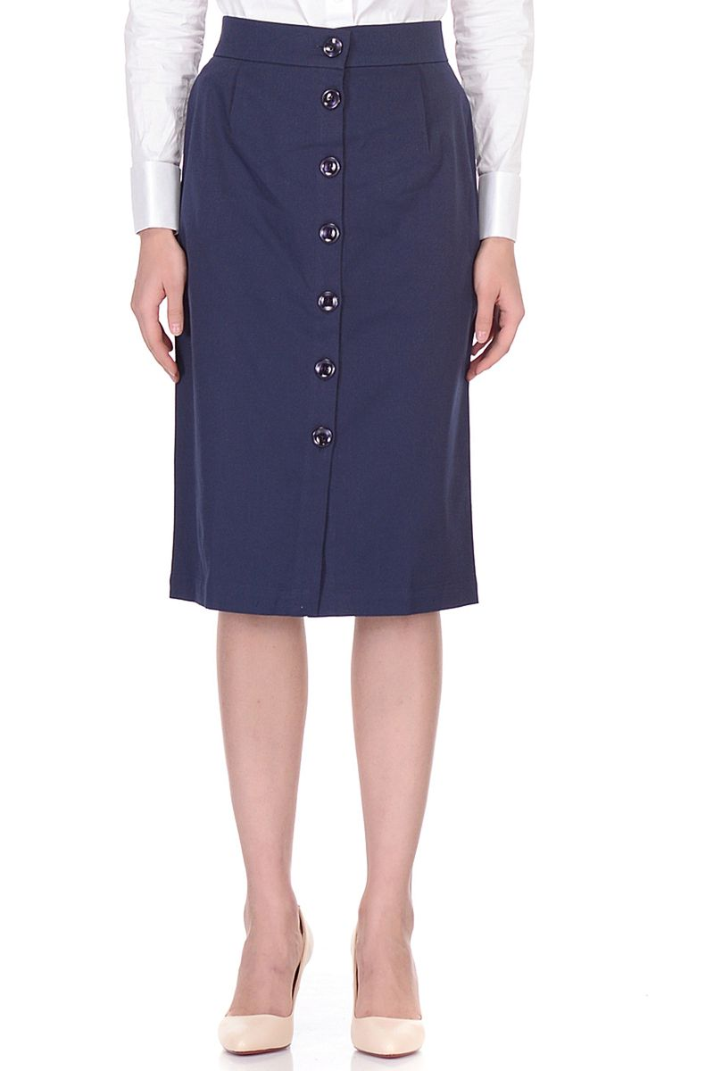 Юбка Baon, цвет: синий. B478007_Dark Navy. Размер XL (50) кардиган женский baon цвет черный b147505 black размер xl 50