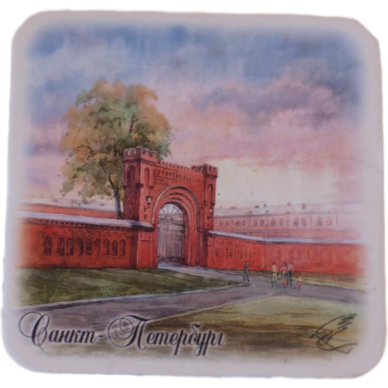 Предлагаем вашему вниманию магнит с видом Санкт-Петербурга, он станет необычным и ярким дополнением к подарку дорогому и близкому вам человеку или просто добавит красок в серые будни.