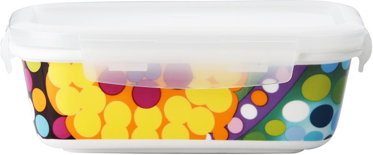 Контейнер пищевой French Bull Bindi, цвет: белый, 270 млCL-CQ-027F BindiВ контейнере можно готовить, выпекать (без крышки), подавать и хранить продукты. Контейнеры выполнены из высококачественного термостойкого белого фарфора с ярким рисунком. Пластиковая крышка контейнера плотно закрывается, имеет антимикробную силиконовую прослойку, которая позволит сохранить свежесть продуктов намного дольше.
