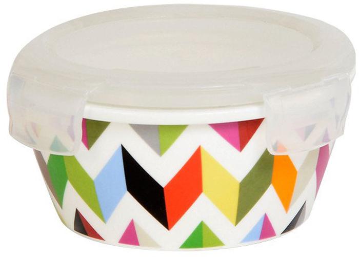 Контейнер пищевой French Bull Ziggy, цвет: мультиколор, 250 млCL-CB-025F ZIGGYВ контейнере можно готовить, выпекать (без крышки), подавать и хранить продукты. Контейнеры выполнены из высококачественного термостойкого белого фарфора с ярким рисунком. Пластиковая крышка контейнера плотно закрывается, имеет антимикробную силиконовую прослойку, которая позволит сохранить свежесть продуктов намного дольше.