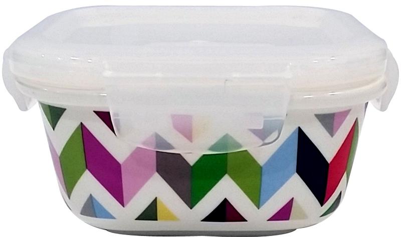 В контейнере можно готовить, выпекать (без крышки), подавать и хранить продукты. Контейнеры выполнены из высококачественного термостойкого белого фарфора с ярким рисунком. Пластиковая крышка контейнера плотно закрывается, имеет антимикробную силиконовую прослойку, которая позволит сохранить свежесть продуктов намного дольше.