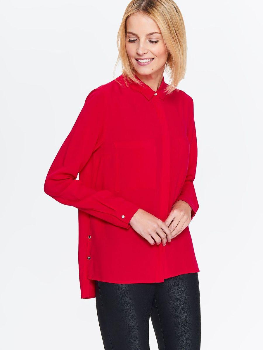 Рубашка женская Top Secret, цвет: красный. SKL2526CE. Размер 44 (52) женская рубашка european and american big c002617 2015