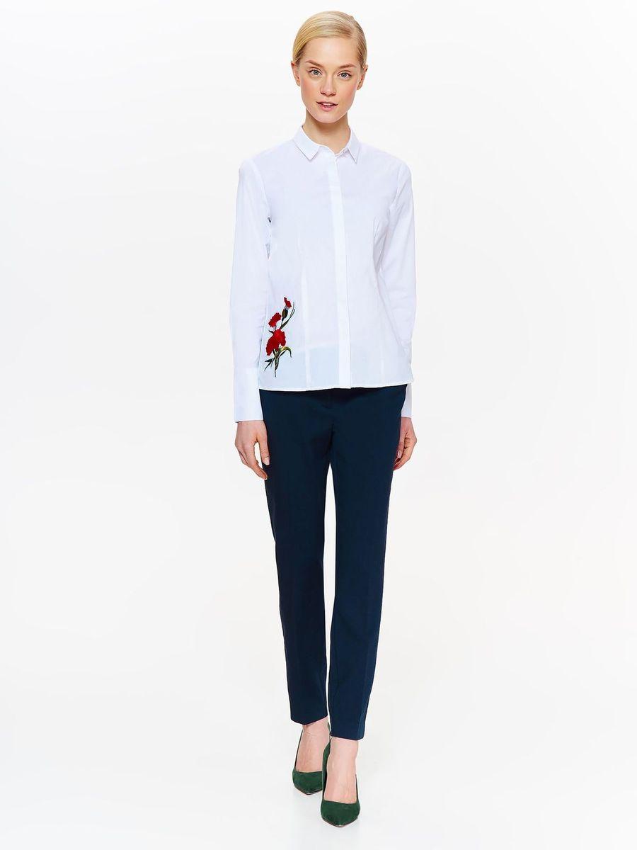 Рубашка женская Top Secret, цвет: белый. SKL2478BI. Размер 46 (54)