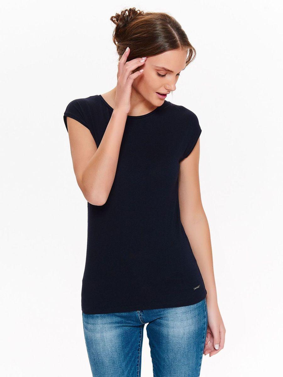 Футболка женская Top Secret, цвет: темно-синий. SPO3547GR. Размер 42 (50) футболка мужская top secret цвет темно синий spo3354gr размер xl 50