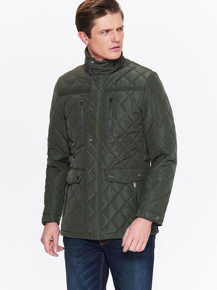 Куртка мужская Top Secret, цвет: зеленый. SKU0851ZI. Размер XXL (52) футболка мужская top secret цвет белый spo3466bi размер xxl 52