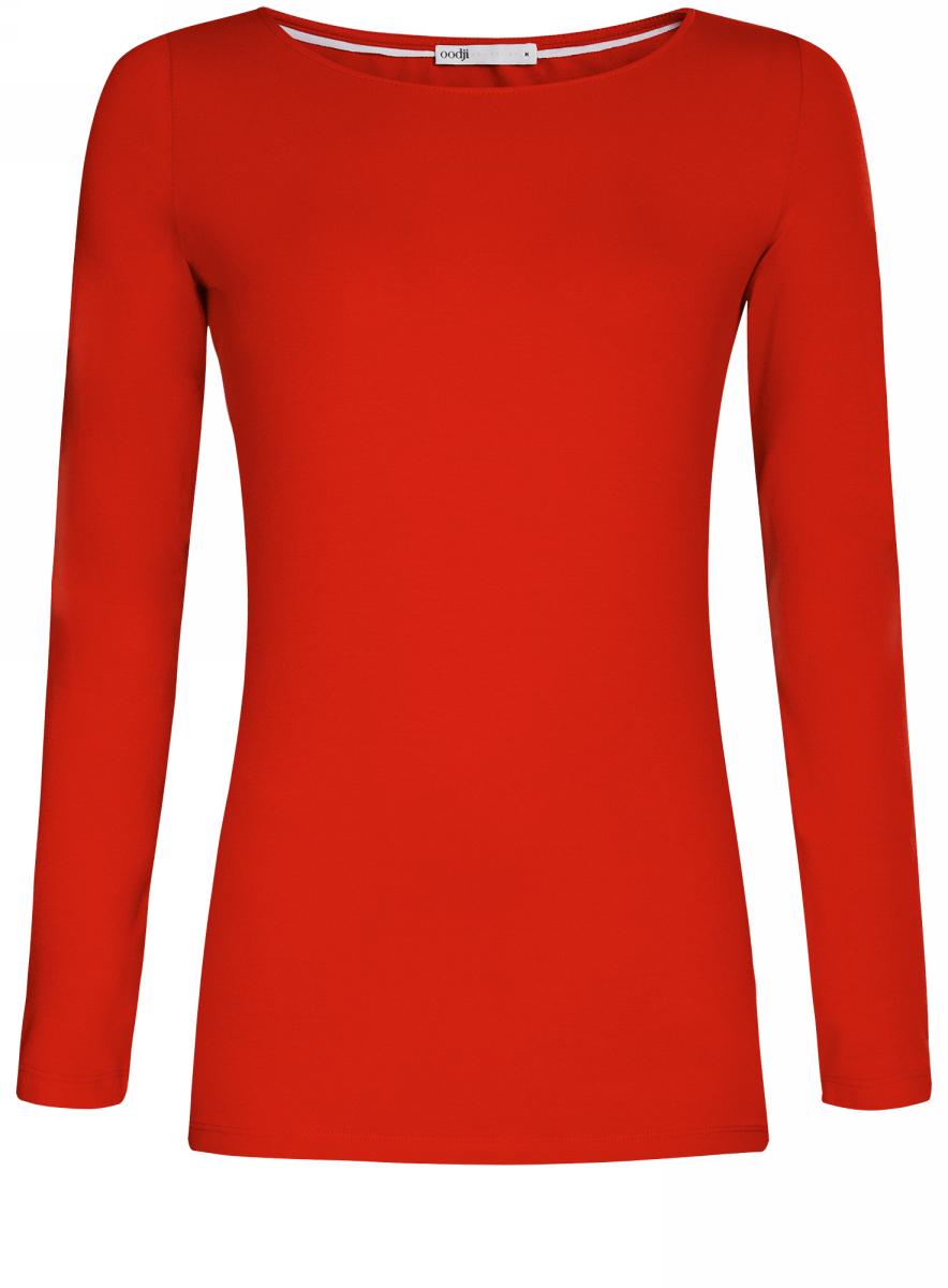 Купить Лонгслив женский oodji Collection, цвет: красный. 24201007B/46147/4500N. Размер XXS (40)