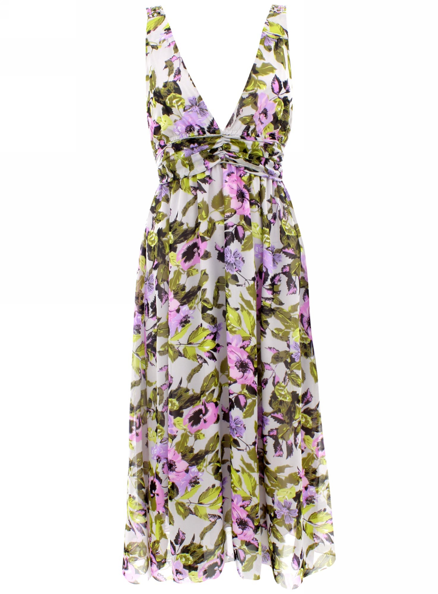 Сарафан oodji Collection, цвет: светло-серый, светло-розовый. 21903011/15463/2040F. Размер 36 (42-164)