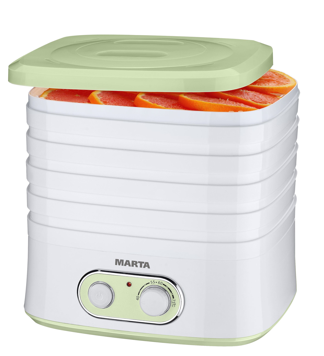 Marta MT-1945, Green Jade сушилка для фруктов и овощей - Техника для хранения, консервации и заготовок