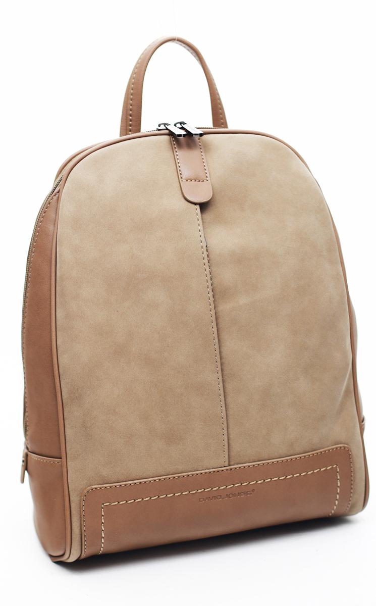 Рюкзак женский David Jones, цвет: светло-коричневый. СМ3556D/CAMELСМ3556D/CAMELРюкзак женский David Jone выполнен из искусственной кожи светло-коричневого цвета. Одно отделение, два кармана (один на молнии), внешний карман на передней стенке (на молнии), внешний карман на задней стенке (на молнии).