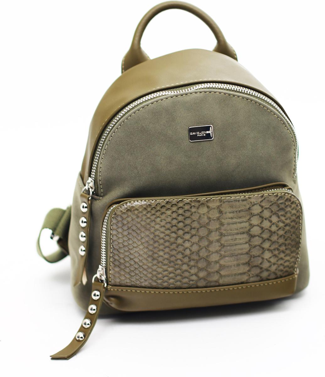 Рюкзак женский David Jones, цвет: оливковый. СМ3552KHAKI