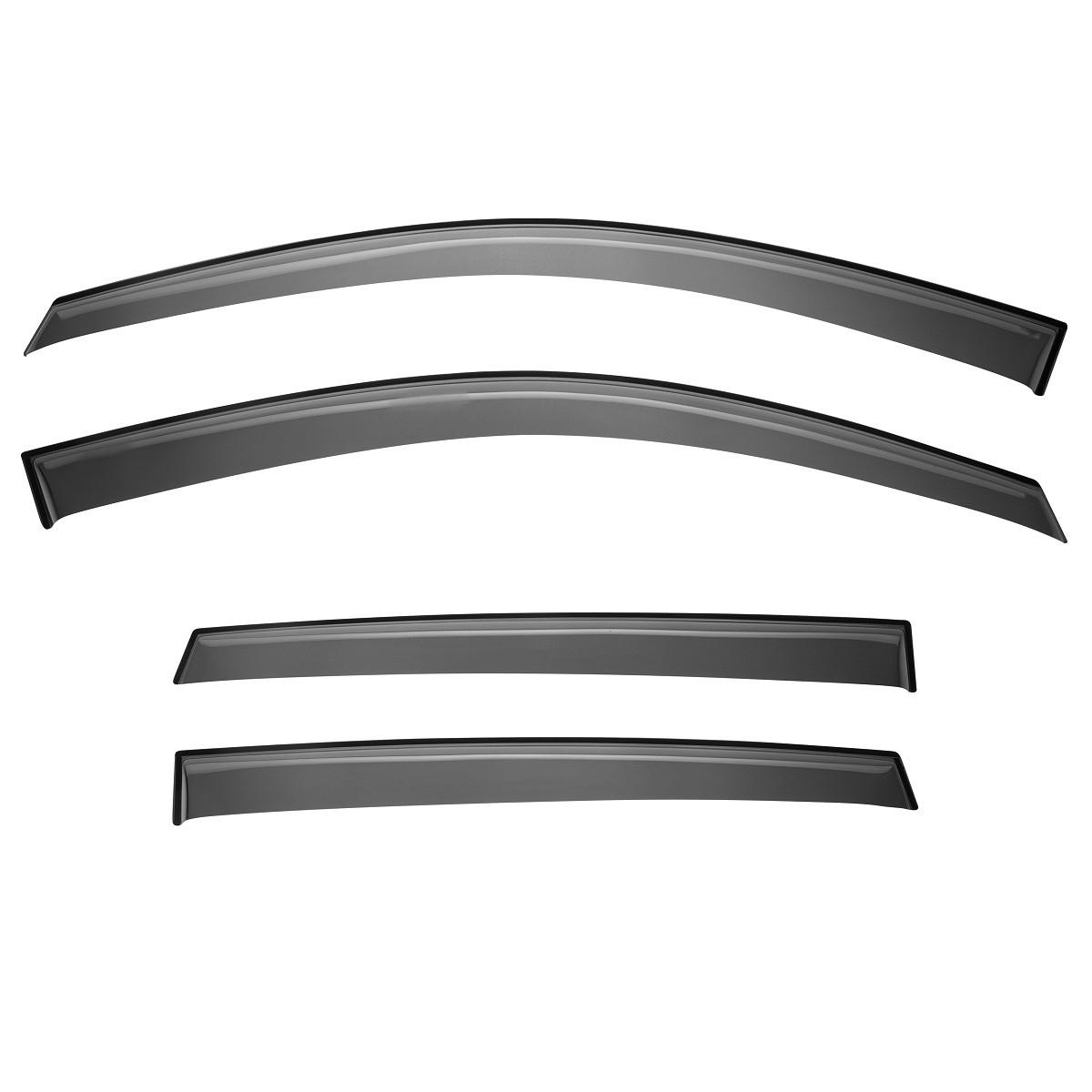 Купить Дефлекторы Rival для окон Toyota Highlander 2014-, акрил, 4 шт. 35703001