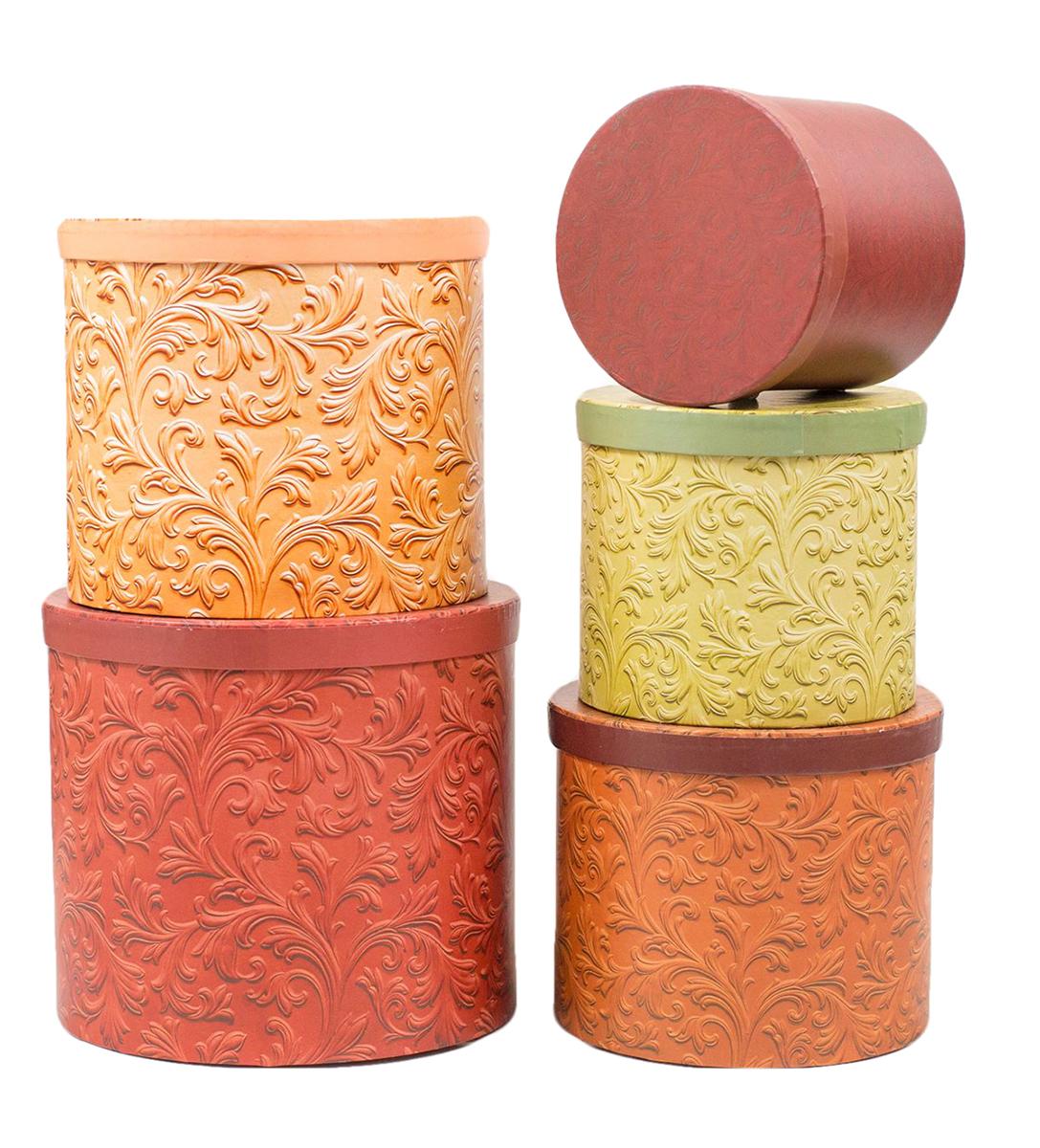 Набор коробок Дарите Счастье 5 в 1 Кофейные узоры, круг2291175Шляпные коробки — новое решение для оформления букетов. Такая композиция выглядит оригинально и стильно. Удобная упаковка защищает цветы во время переноски.При наличии флористической губки изделие можно использовать в качестве вазы. Кроме редкого полива и сбрызгивания растения не потребуют особенного ухода. Букет надолго сохранит свежесть и красоту.