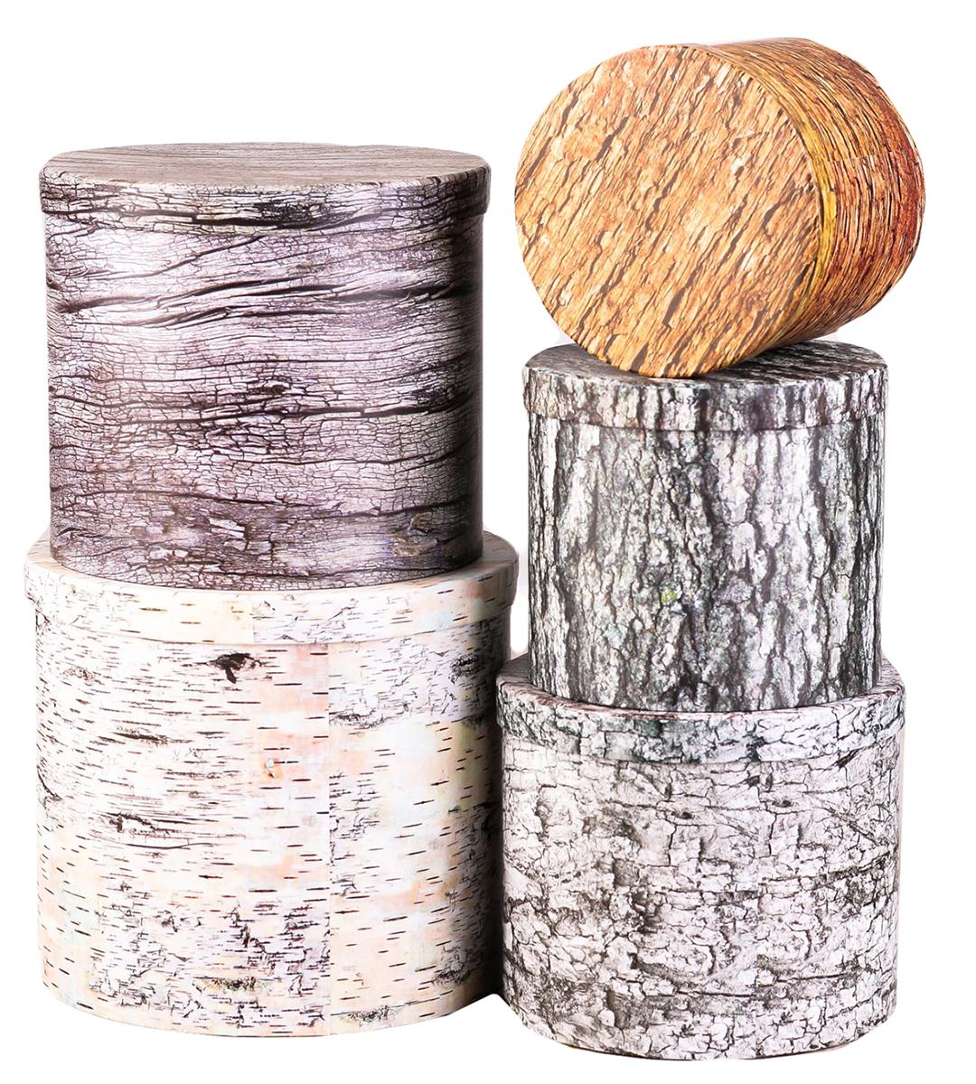 Набор коробок Дарите Счастье 5 в 1 Текстурные, круг2291179Шляпные коробки — новое решение для оформления букетов. Такая композиция выглядит оригинально и стильно. Удобная упаковка защищает цветы во время переноски.При наличии флористической губки изделие можно использовать в качестве вазы. Кроме редкого полива и сбрызгивания растения не потребуют особенного ухода. Букет надолго сохранит свежесть и красоту.