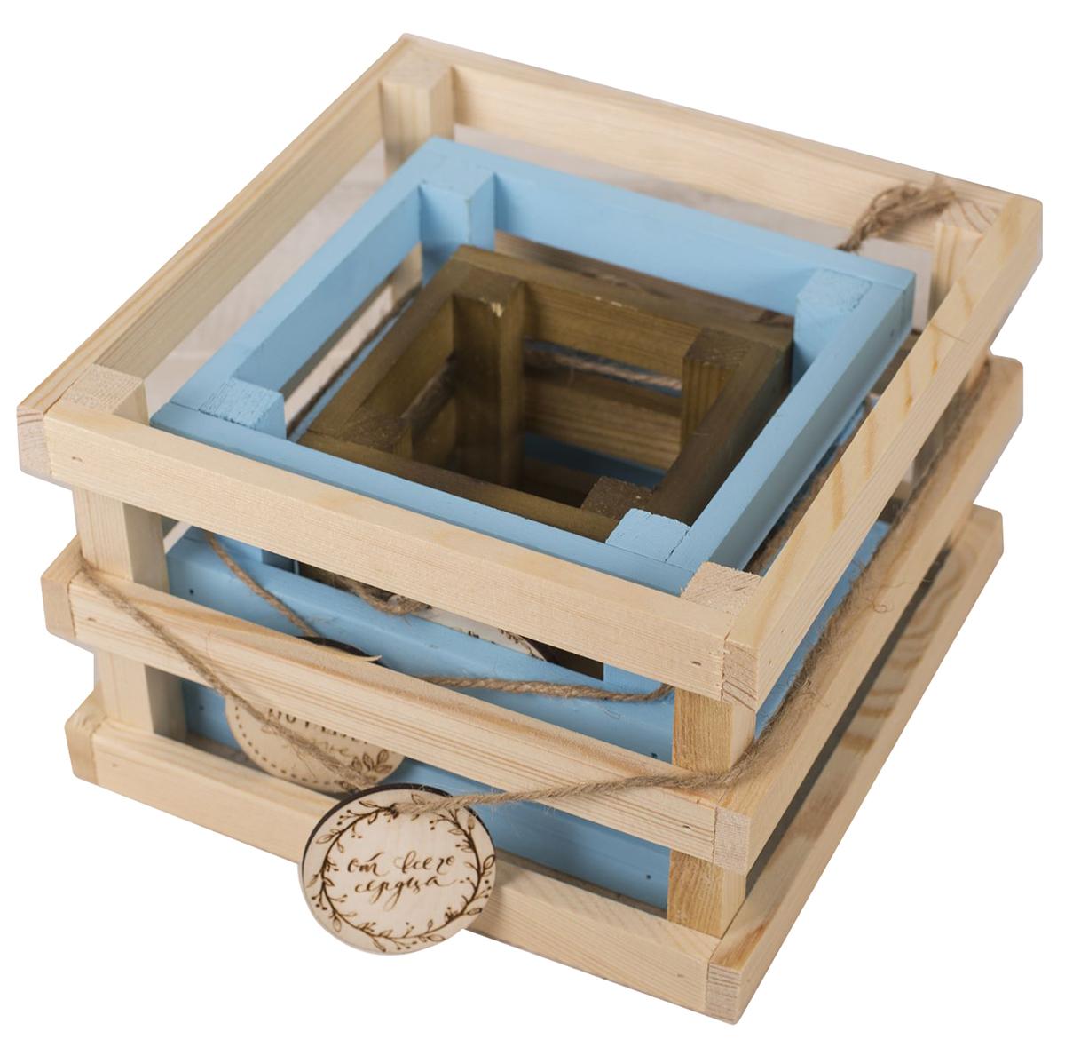 Набор деревянных ящиков Дарите Счастье От всего сердца, для цветов, 3 шт2589461Каждому хозяину периодически приходит мысль обновить свою квартиру, сделать ремонт, перестановку или кардинально поменять внешний вид каждой комнаты. Набор деревянных ящиков— привлекательная деталь, которая поможет воплотить вашу интерьерную идею, создать неповторимую атмосферу в вашем доме. Окружите себя приятными мелочами, пусть они радуют глаз и дарят гармонию.