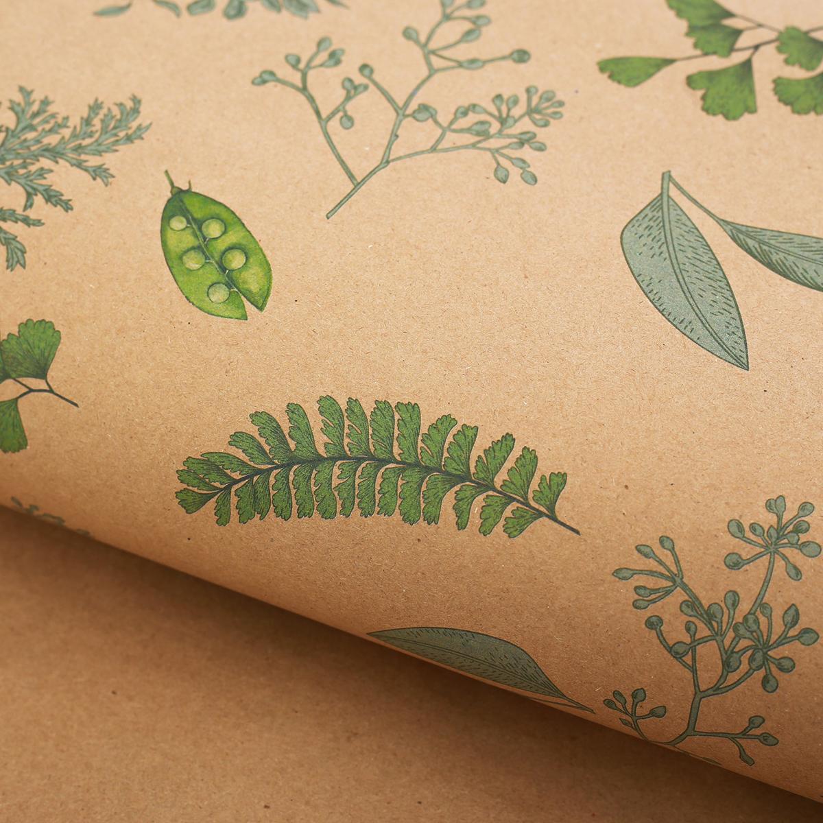 Крафт бумага Дарите Счастье Зеленая ботаника, 50 х 70 см2771495Любой подарок начинается с упаковки. Что может быть трогательнее и волшебнее, чем ритуал разворачивания полученного презента. И именно оригинальная, со вкусом выбранная упаковка выделит ваш подарок из массы других. Она продемонстрирует самые теплые чувства к виновнику торжества и создаст сказочную атмосферу праздника.