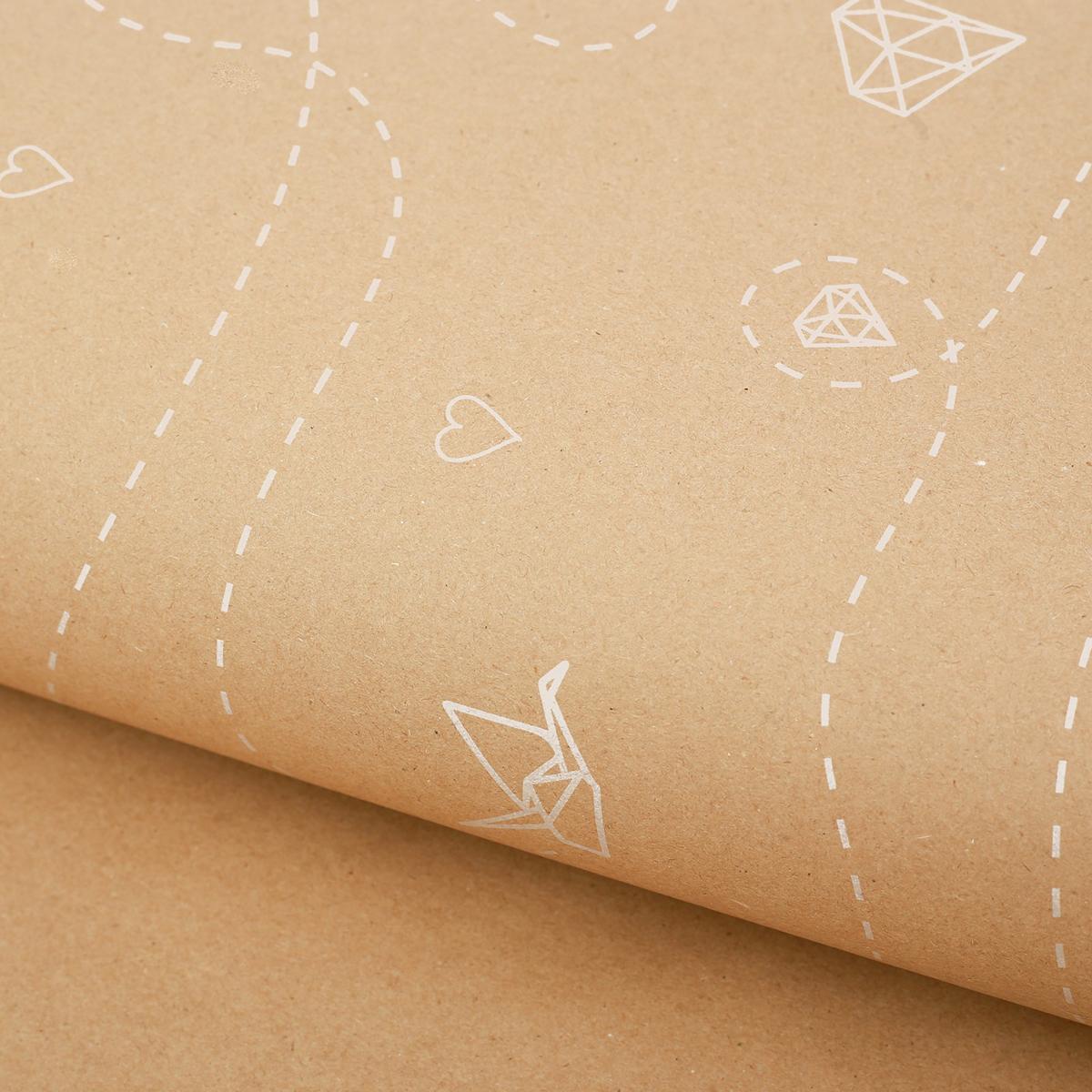 Крафт бумага Дарите Счастье Полет, 50 х 70 см2771498Любой подарок начинается с упаковки. Что может быть трогательнее и волшебнее, чем ритуал разворачивания полученного презента. И именно оригинальная, со вкусом выбранная упаковка выделит ваш подарок из массы других. Она продемонстрирует самые теплые чувства к виновнику торжества и создаст сказочную атмосферу праздника.