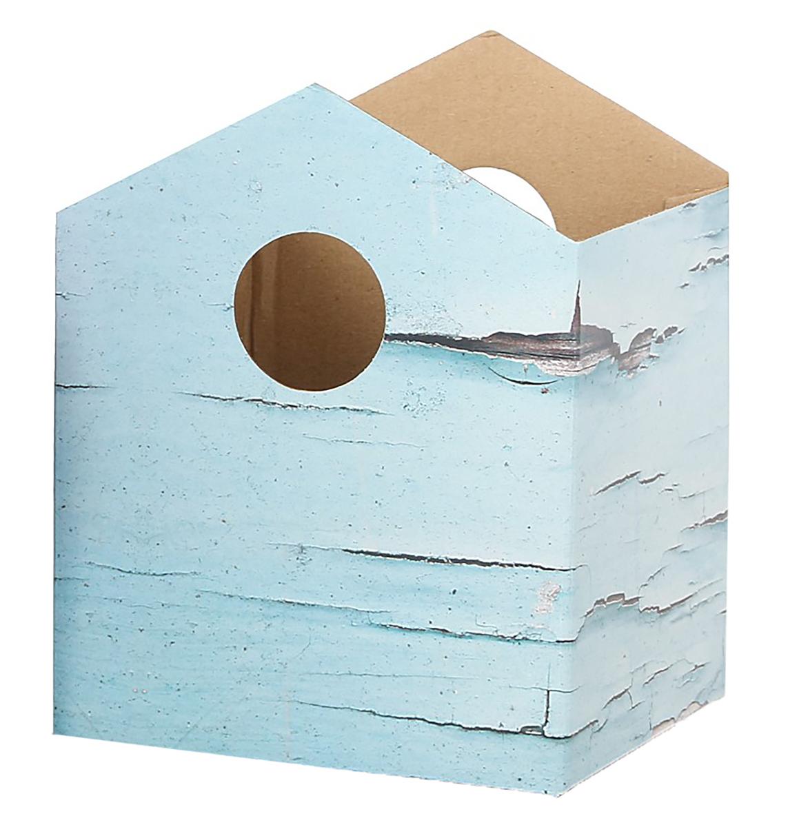 Коробка-домик Дарите Счастье Шебби, для цветов, складная, 15 х 19 см2965235Любой подарок начинается с упаковки. Что может быть трогательнее и волшебнее, чем ритуал разворачивания полученного презента. И именно оригинальная, со вкусом выбранная упаковка выделит ваш подарок из массы других. Она продемонстрирует самые теплые чувства к виновнику торжества и создаст сказочную атмосферу праздника.