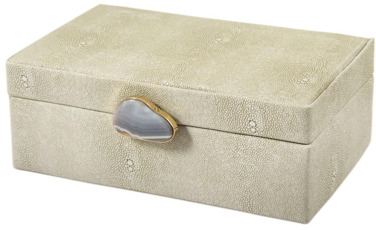 Шкатулка для украшений, цвет: белый, 23 х 17 х 9 см. 238112 шкатулка для ювелирных украшений moretto 18 х 13 х 5 см 139530
