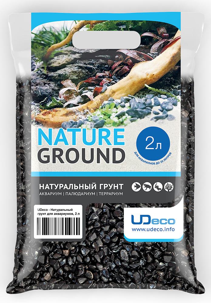 Грунт для аквариумов UDeco Черный гравий 6-12 мм 2 л