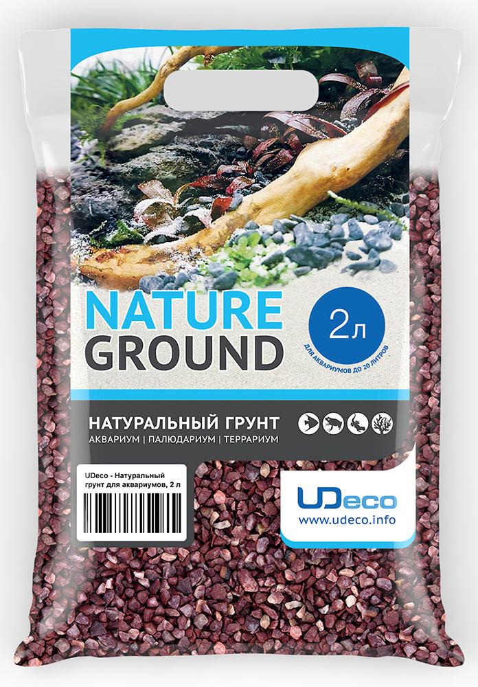 Грунт для аквариума UDeco Красный гравий, натуральный, 4-6 мм, 2 л грунт для аквариума udeco коралловая крошка натуральный 11 30 мм 2 л