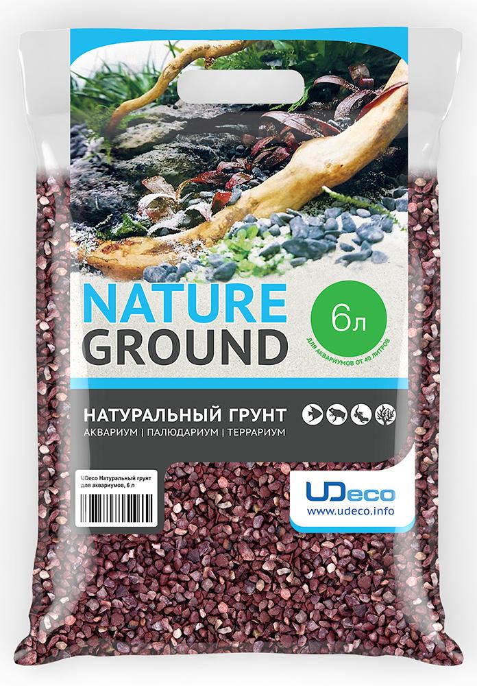 Грунт для аквариума UDeco Красный гравий, натуральный, 4-6 мм, 6 л грунт для аквариума udeco темный гравий натуральный 6 9 мм 6 л