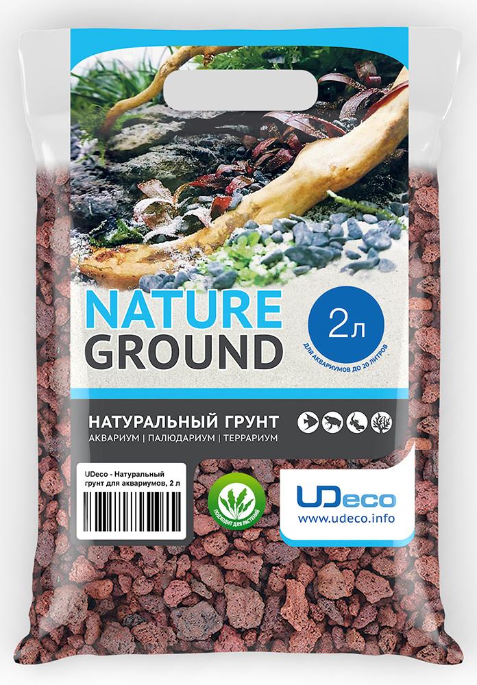 Грунт для аквариума UDeco Лавовая крошка, натуральный, 10-30 мм, 2 л грунт для аквариума udeco коралловая крошка натуральный 11 30 мм 2 л