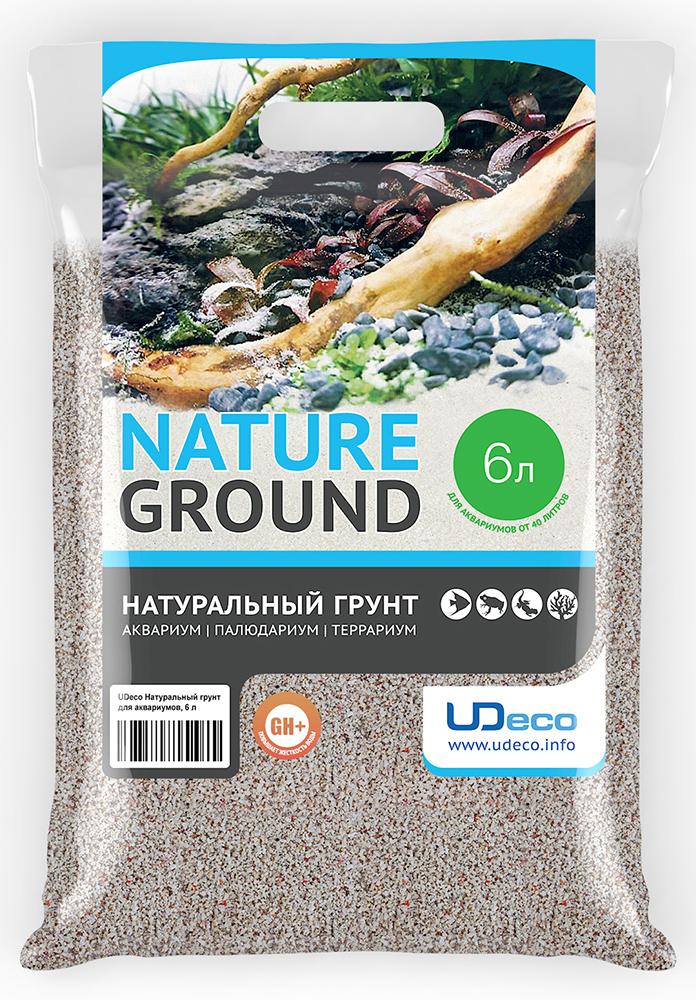 Грунт для аквариума UDeco Коралловая крошка, натуральный, 1-2 мм, 6 л грунт для аквариума udeco коралловая крошка натуральный 11 30 мм 2 л