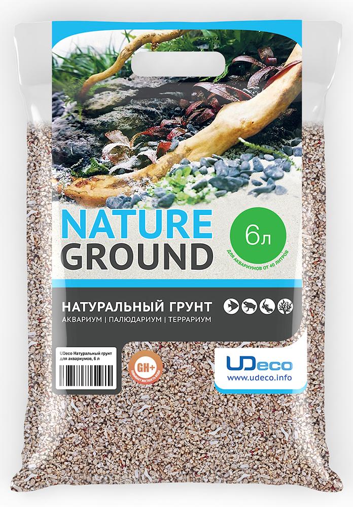 Грунт для аквариума UDeco Коралловая крошка, натуральный, 4-6 мм, 6 л грунт для аквариума udeco коралловая крошка натуральный 11 30 мм 2 л