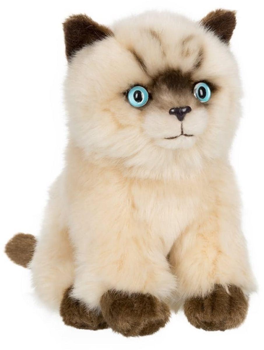 Anna Club Plush Сиамский котёнок, сидит 15 см anna club plush мягкая игрушка бассет хаунд 18 см