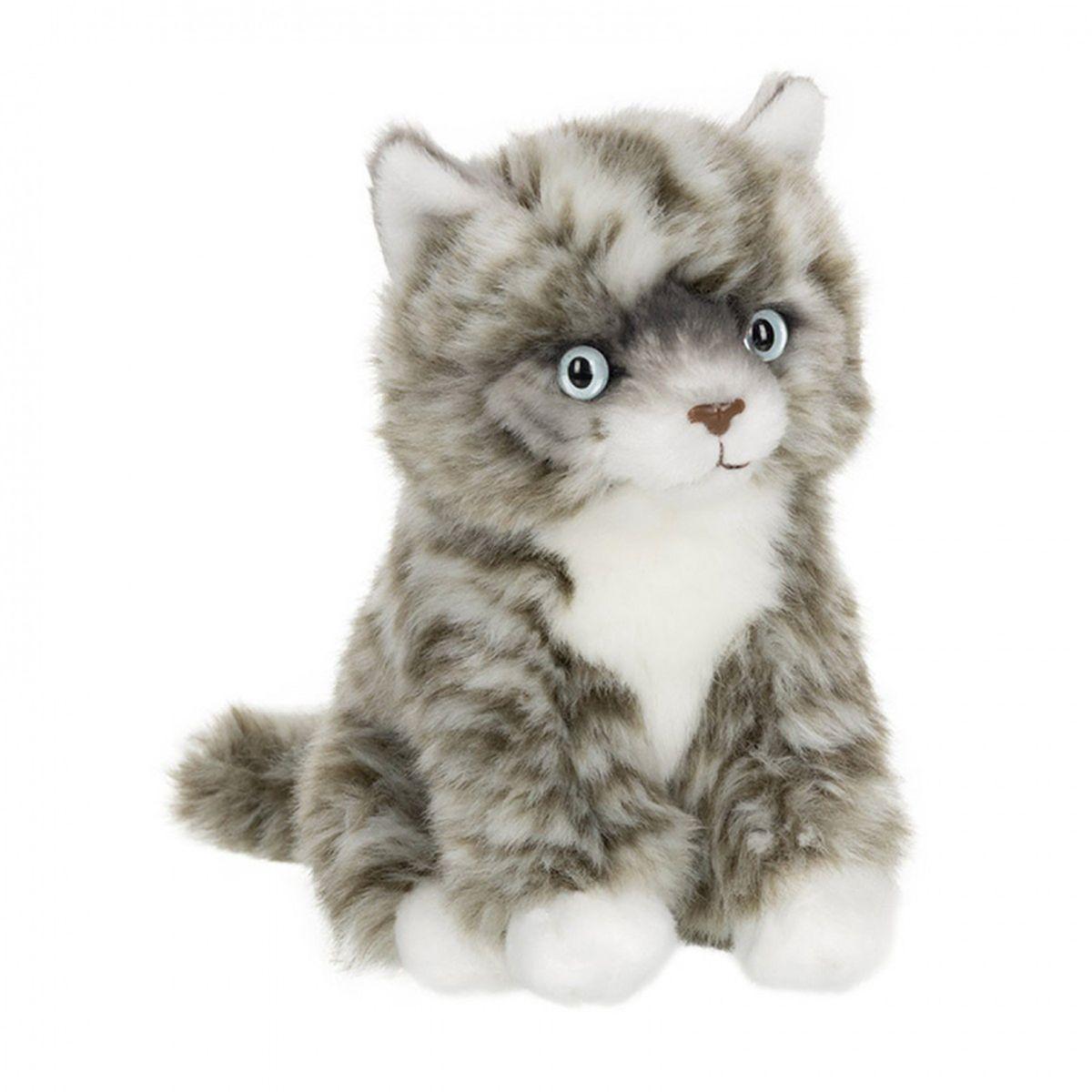 Anna Club Plush Котёнок Табби короткошерстный серебряный, сидит 15 см anna club plush мягкая игрушка бассет хаунд 18 см
